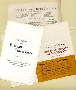 Citizens' Permanent Relief Committee flyers